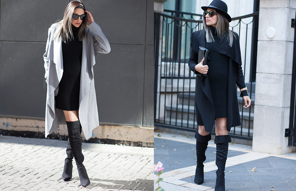 le chateau, over the knee boots, how to style over the knee boots, otk boots