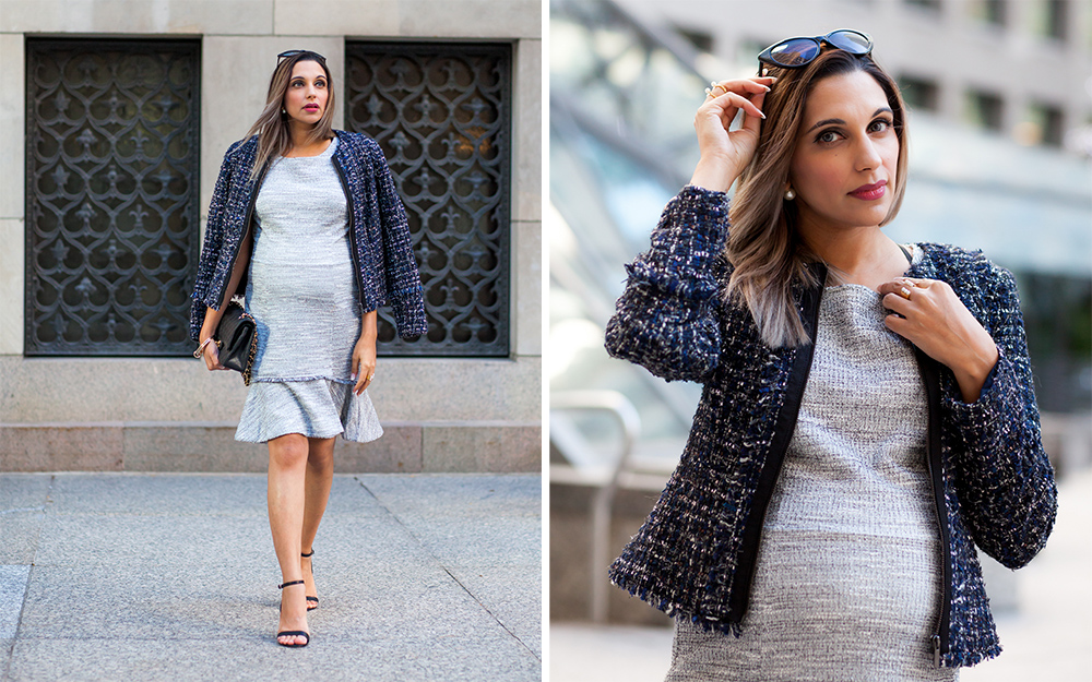 tweed, Banana Republic, How to look chic when pregnant, Style the bump