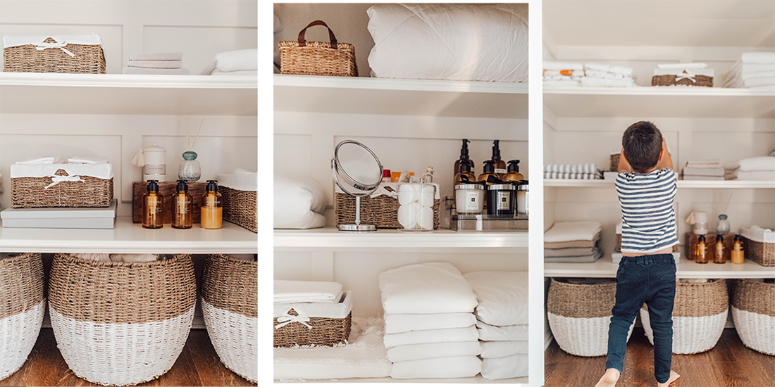 Organize Linen Closet, Organized Live, Bed Bath Beyond