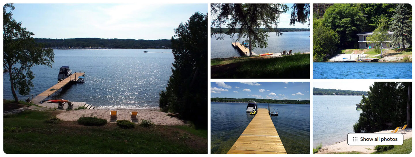 airbnb, cottage in ontario